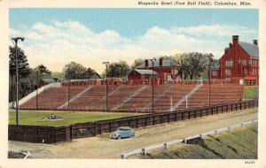 Columbus Mississippi Magnolia Bowl Foot Ball Field Antique Postcard K10848