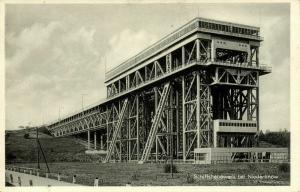 NIEDERFINOW, Das Tausend-Tonnen-Schiffshebewerk (1930s)
