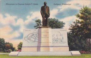 Monument To Captain Joseph T Jones Gulfport Mississippi