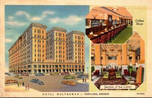 Oregon Portland Hotel Multnomah 1936 Curteich