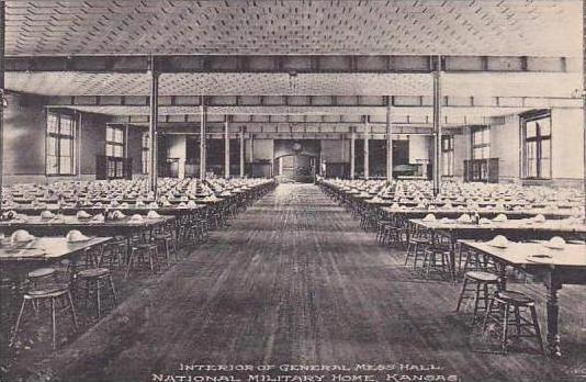 Kansas National Military Home Interior General Mess Hall Albertype