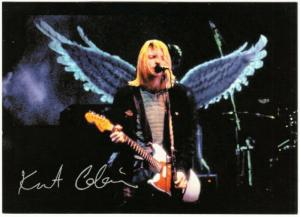 Nirvana Kurt Cobain in Concert with Angel Wings Postcard