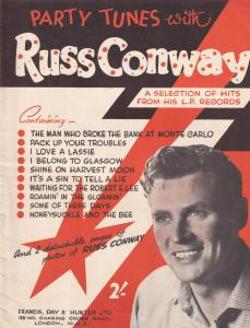 Party Tunes With Ross Conway LP Rare Sheet Music Album