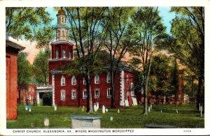 Virginia Alexandria Christ Church where Washington Worshipped Curteich