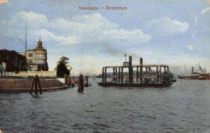 Netherlands Rotterdam Veerkade postcard
