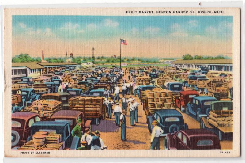 Fruit Market, Benton Harbor, St Joseph MI / HipPostcard