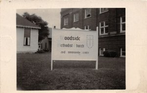 F54/ Indianapolis Indiana RPPC Postcard 50s Woodside Methodist Church