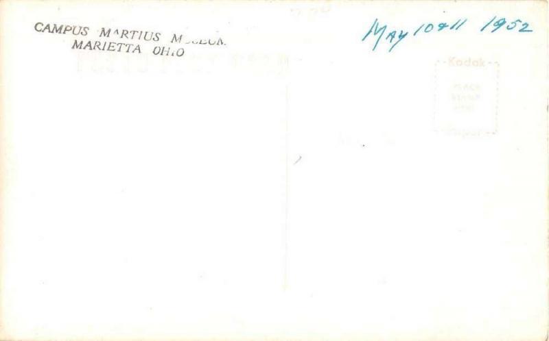 Marietta Ohio Campus Martius Museum Land Office Real Photo Postcard J50986