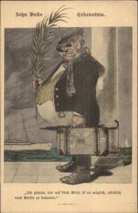German Anti-England Propaganda - John Bull c1915 Postcard gfz