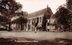 Vintage London Real Photo Postcard, Prince John's Palace, Eltham DW2