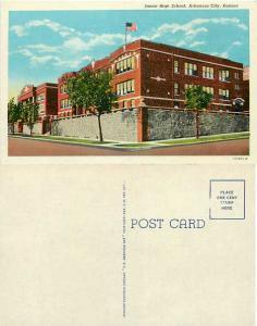 Junior High School, Arkansas City, Kansas, KS, Linen