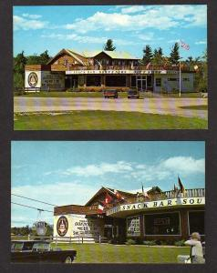 NH Lot 2 Mt Whittier Ski Area Snack Bar West Ossipee New Hampshire Postcards Ski
