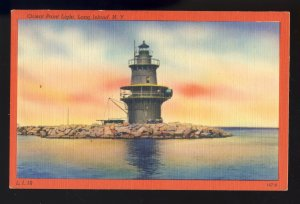 Long Island, New York/NY Postcard, Orient Point Light/Lighthouse