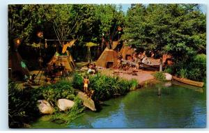 Disneyland Postcard C-8 Peaceful Indian Village Frontierland Rivers America D53