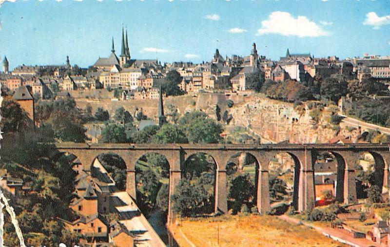 Luxembourg Vue Generale Pont Bridge General view
