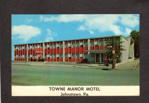 PA Towne Town Manor Motel Johnstown Pennsylvania Penn Postcard