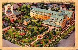 Florida St Petersburg The Huntington Hotel 1943 Curteich