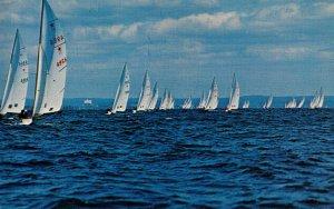 NY - Long Island Sound. Star Boats Racing