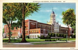 Massachusetts Pittsfield High School 1945 Curteich