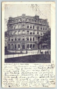 New York City~New Yorker Staats-Zeitung Newspaper Building~Razed 1909~1906 B&W