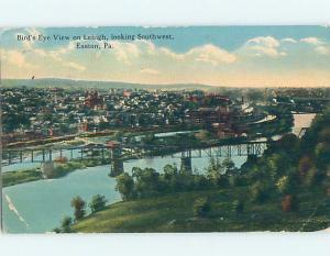 Divided-Back PANORAMIC VIEW Easton Pennsylvania PA hp4779