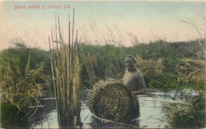 Native method of catching fish