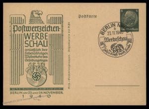 Germany 1940 Berlin KdF Postwertzeichen Werbeschau Stamp Show GS Postal St 90811
