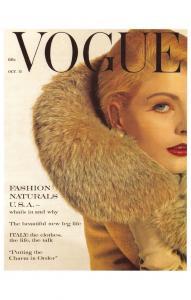 Postcard VOGUE Magazine Iconic Cover Fashion Fashion Naturals USA Oct 15 1960