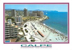 Spain Costa Blanca Calpe Alicante, Playa de Levante Beach Promenade Strand