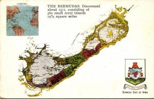 Bermuda Map and Coat Of Arms