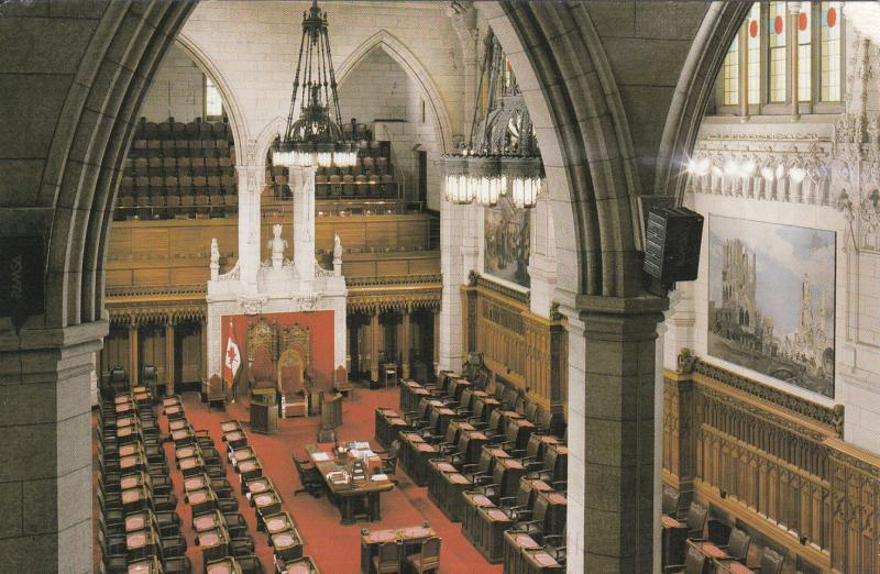 INSIDE VIEW OF THE SENATE CHAMBER PARLIAMENT OF CANADA