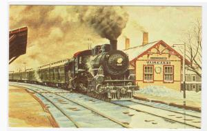 Chicago Northwestern Railroad Train Rock Springs Wisconsin Russ Porter postcard