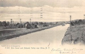 Canals USA Post Card Erie Canal Utica, New York, USA 1907