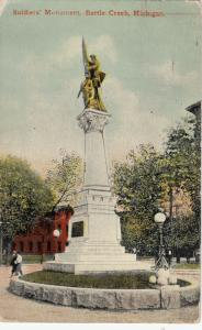 BATTLE CREEK , Michigan, 1911 ; Soldiers' Monument