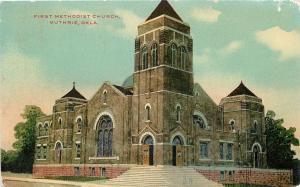 Guthrie Oklahoma~First Methodist Church~1910 Postcard