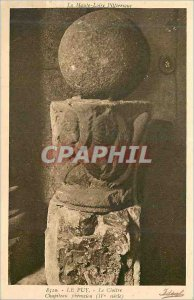 Old Postcard Puy the Cloister Capital Phenicien (fourth century) Upper Loire ...