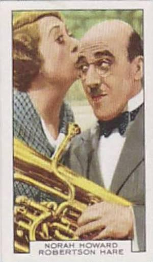 Gallaher Cigarette Card Film Partners No. 12 Norah Howard And Robertson Hare ...