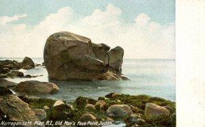 RI - Narragansett Pier, Point Judith. Old Man's Face