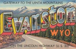 Lincoln Highway ; EVANSTON , Wyoming , 1930-40s