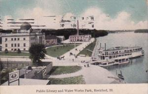 Illinois Rockford Public Library And Water Works Park