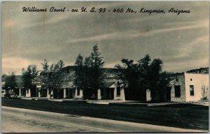Kingman, Arizona Postcard WILLIAMS COURT Highway 466 Roadside c1950s Unused