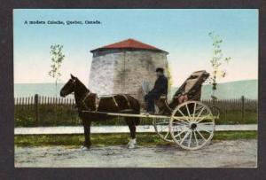 QUEBEC Horse & Carriage Buggy Caleche CANADA POSTCARD