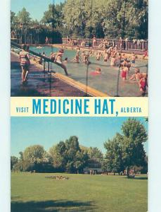Pre-1980 SWIMMING POOL SCENE Medicine Hat Alberta AB AF2370
