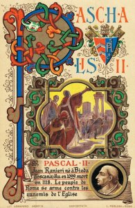 Religion The Vatican City Holy Art Postcard Pope Pascal II (Paschal) 06.07