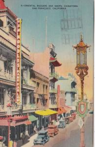 California San Francisco Chinatown Oriental Bazaars and Shops 1946