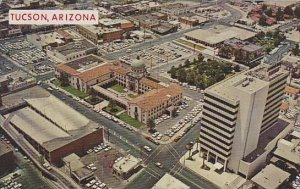 Arizona Tucson Showing Downtown Office Buildings Surrounding The County Court...