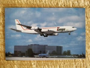TAMPA OF COLOMBIA BOEING 707-321C AT MIAMI.VTG AIRCRAFT POSTCARD*P48