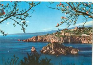 Italy, TAORMINA, Capo Taormina e Isola Bella, 1970 used Postcard