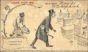 Black Americana - Garlock Packing Co Chicago IL Illustrated Postal Card c1905