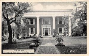 B80/ Harrodsburg Kentucky Ky Postcard c1940s Avalon Inn Finest